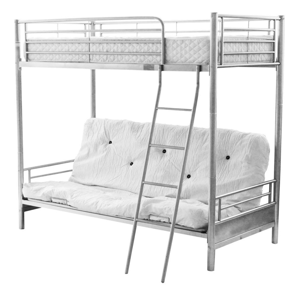 Metal Bunk Bed Frame With Futon Bed Frames Ideas Pinterest