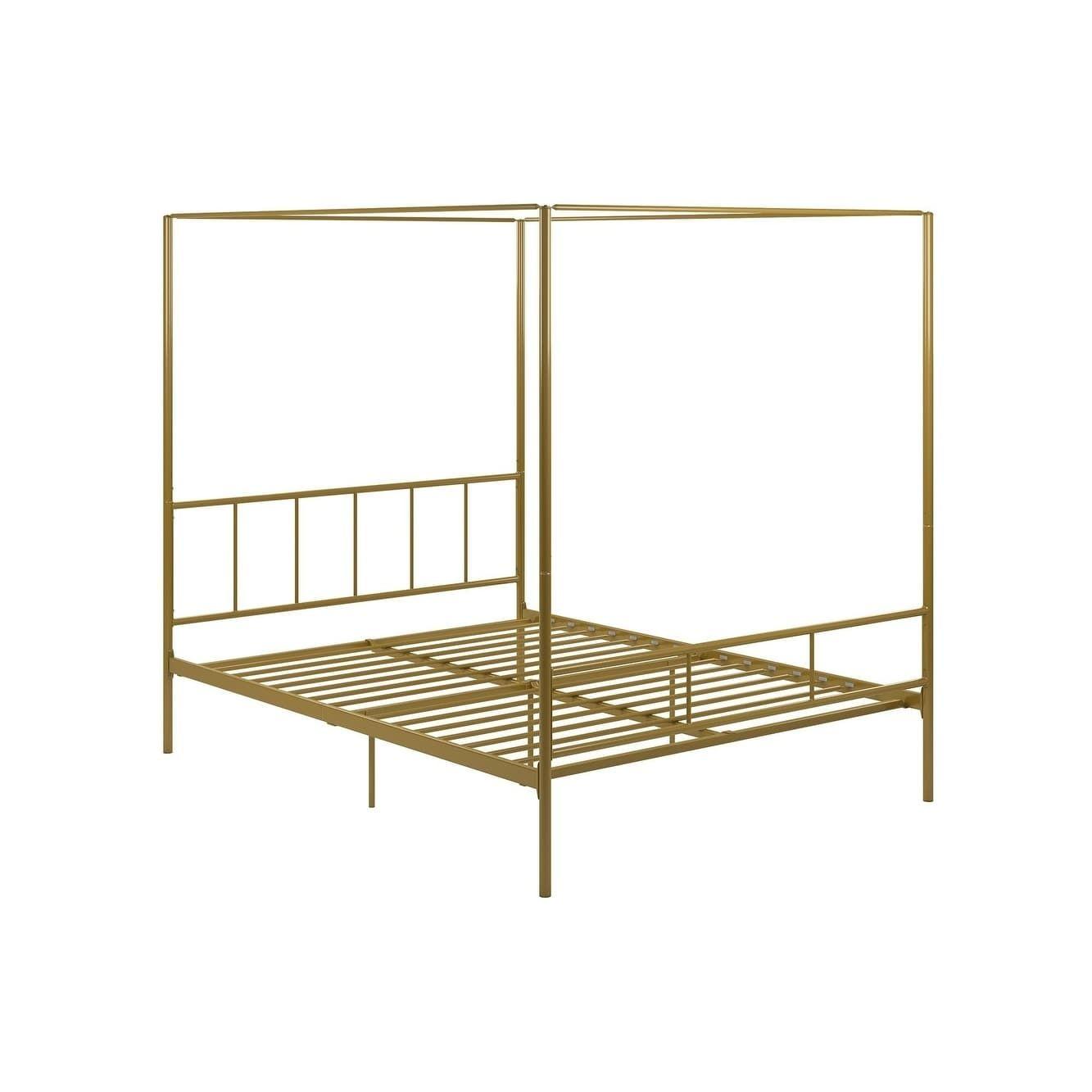 Novogratz Marion Canopy Bed White King Canopy Bed Frame