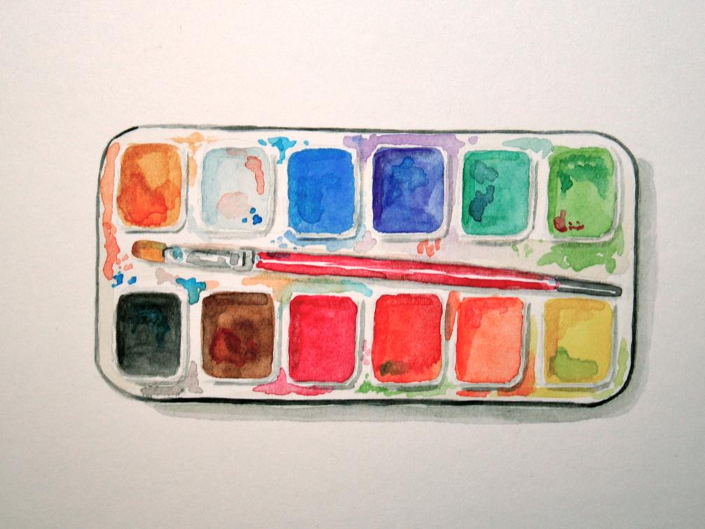Watercolor Paint Palette Painting Art Supplies Drawing Art Challenge Watercolor Pallet