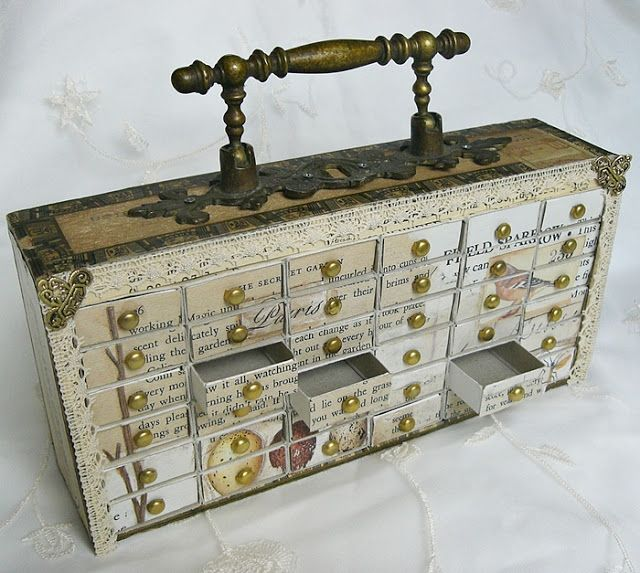 Shabby Chic Inspired: match box cabinet