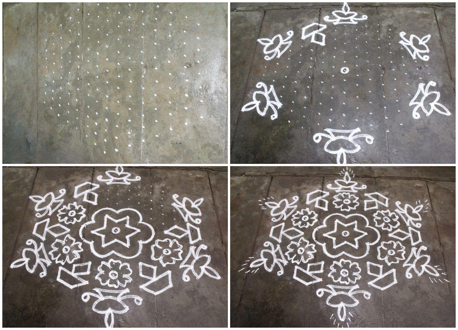 S.No. 23 158 Pulli kolam Rangoli designs, Beautiful