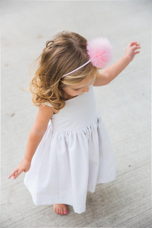 white and linen seersucker toddler girls dress // spring dresses for girls, from cuteheads.com