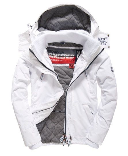 Superdry Hooded Wind Yachter Jacket White  65e01032581