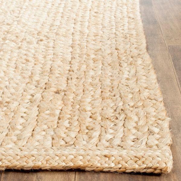 Living Room Braided Jute Rug Safavieh Casual Natural Fiber Hand Woven