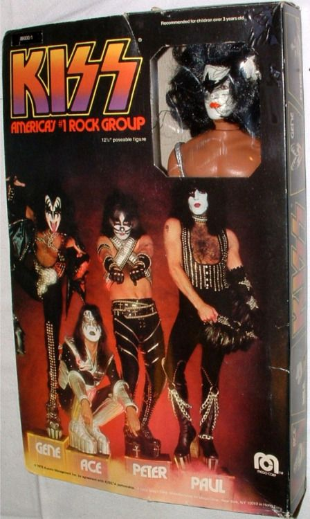 Mego 1978 Kiss Gene Simmons Action Figure Kiss Merchandise