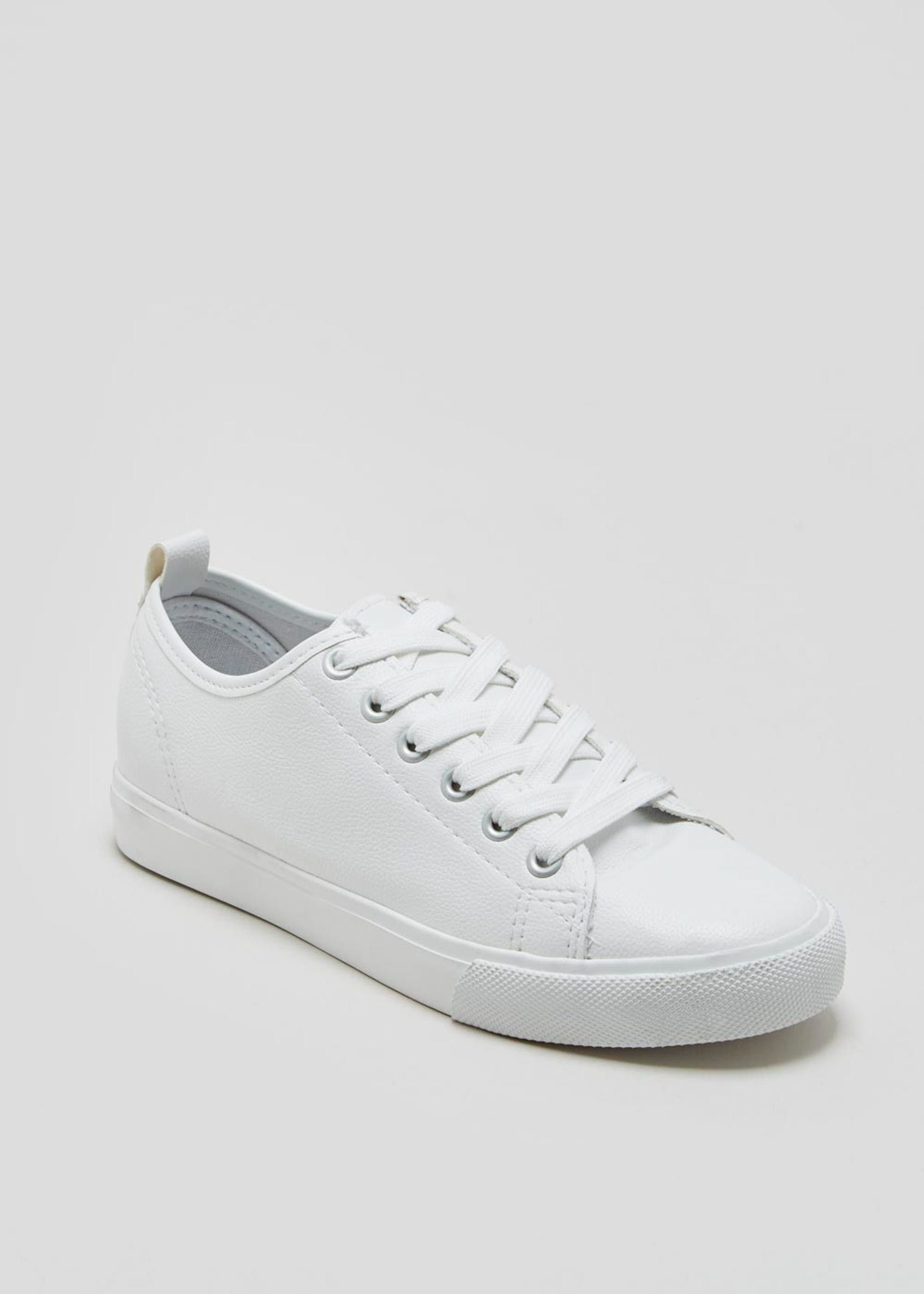 Lace Up Trainers – White | Lace up