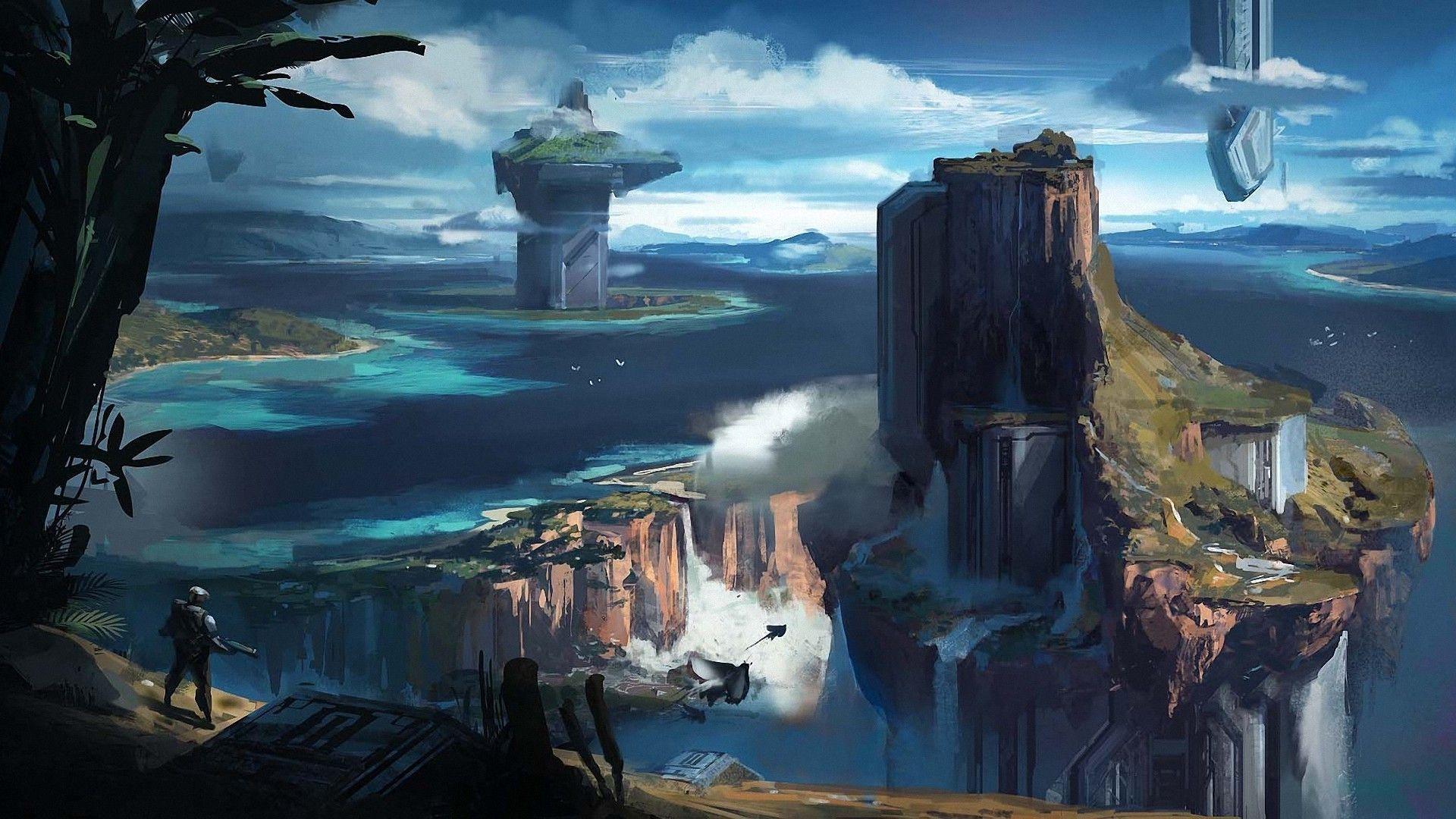Sci Fi Sci Fi Wallpaper Sci Fi Fantasy Island