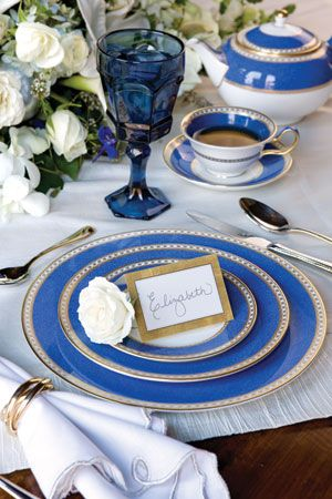 Wedgewood Ulander Blue and White China Table Setting & Blue and White Tablescape | TableScapes...Table Settings | Pinterest ...