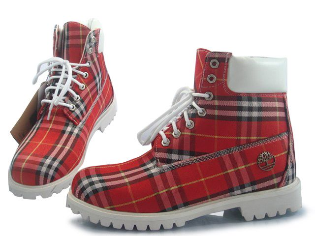 f442ee021751 timberland 6 inch with red burberry for men