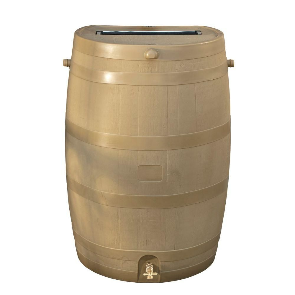 Rts Home Accents 50 Gal Rain Barrel With Oak Brass Spigot Brown Rain Barrel Water Collection Barrels For Sale