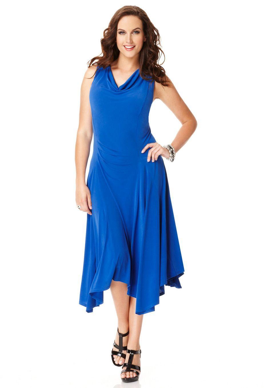 Plus Size Sleeveless Handkerchief Hem Dress | Plus Size ...