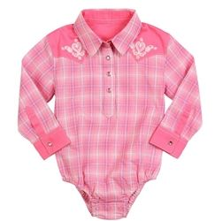 8ff2e996a Wrangler All Around Baby by Wrangler Girls' Long Sleeve Western Shirt  Bodysuit: Get your cowgirl started early! Available in 0-24 months- click  for more!