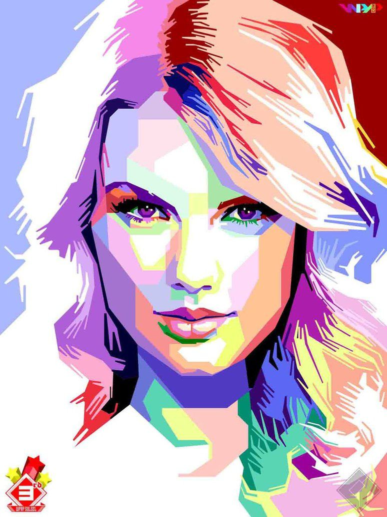 Taylor Swift Tay L O R S W I F T Pop Art Portraits
