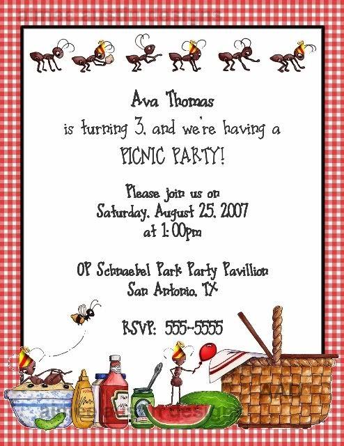 picnic party picnic party invitations