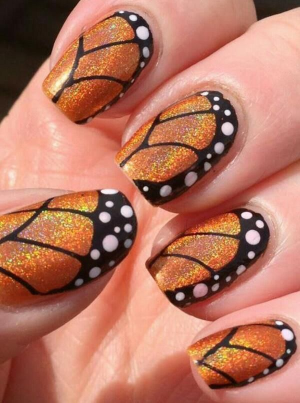 Monarch Butterfly Nails Butterfly Nail Art Best Nail Art Designs Butterfly Nail Designs
