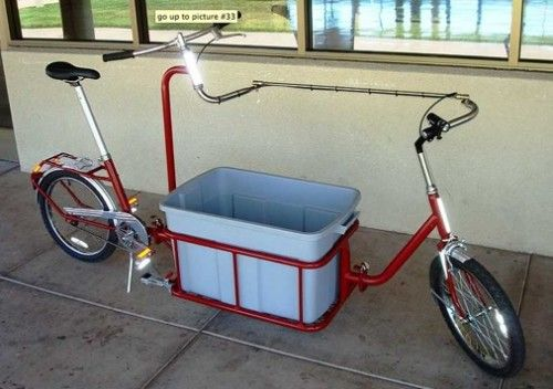 Grocery Getter Bicycle Converts From Homemade Cargo Bike To