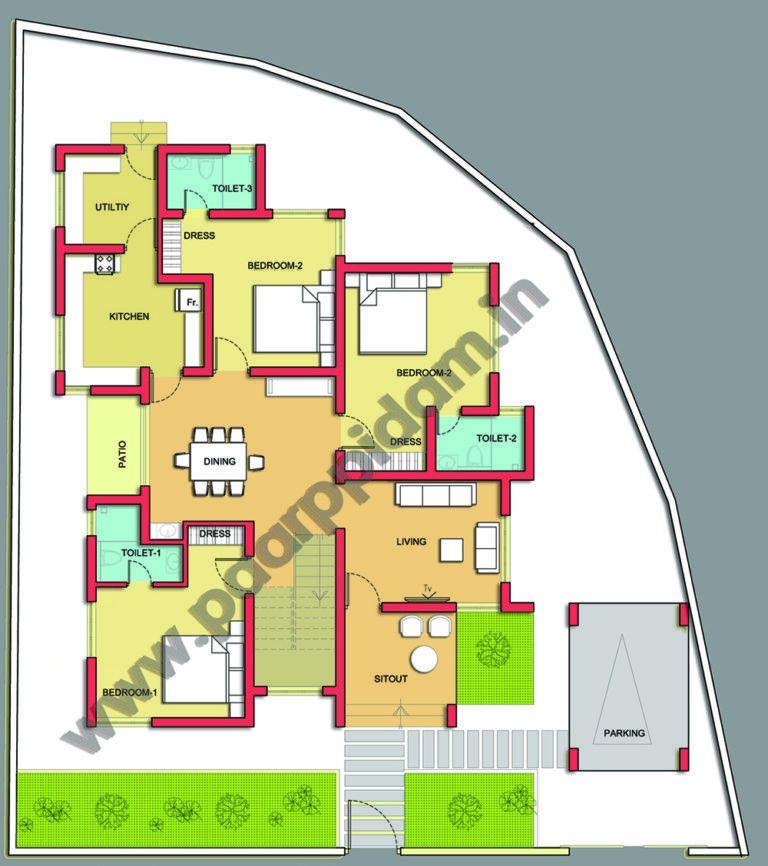 Contemporary Villa Design For Kerala House Plans Thrissur Small Home Plans Kerala Kerala Villa Design Contempo In 2020 Villa Design Small House Plans House Plans