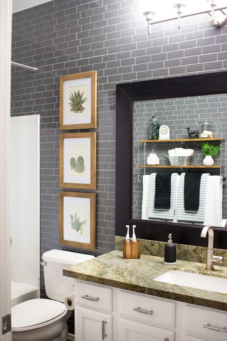 Peel and Stick Gray Subway Tile Bathroom Smart tiles