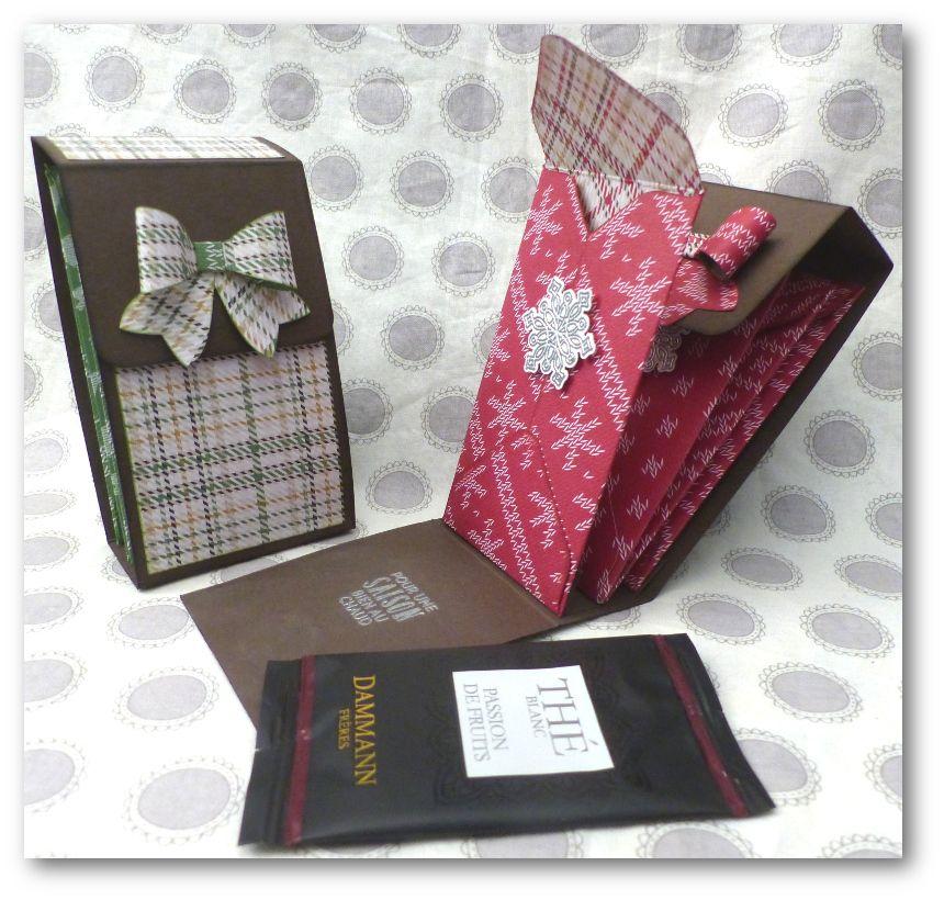 tuto objet cadeau bo te pour sachet de th par coul 39 heure papier tuto carte pinterest. Black Bedroom Furniture Sets. Home Design Ideas