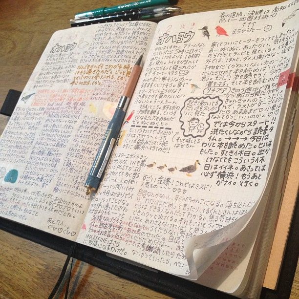 Very cool Chinese journaling style I love their characters so much