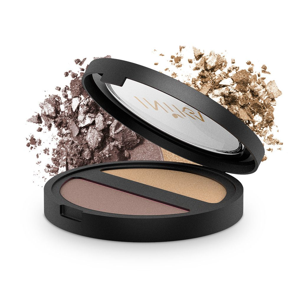 INIKA Pressed Mineral Eyeshadow Duo Gold Oyster Mineral