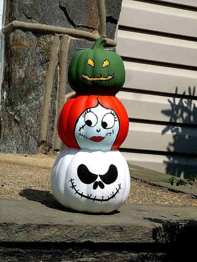 My Home Reference nightmare before christmas painted pumpkins My