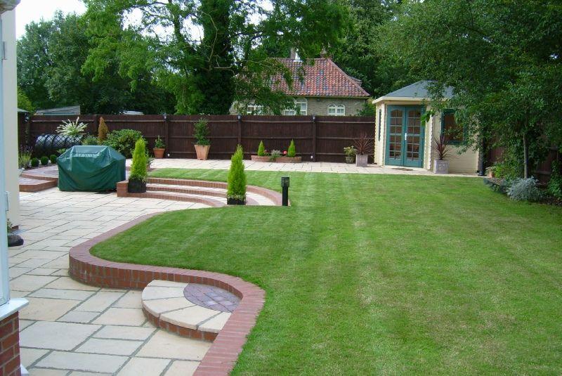 child friendly landscaped gardens - Google Search ... on Modern Back Garden Ideas id=38777