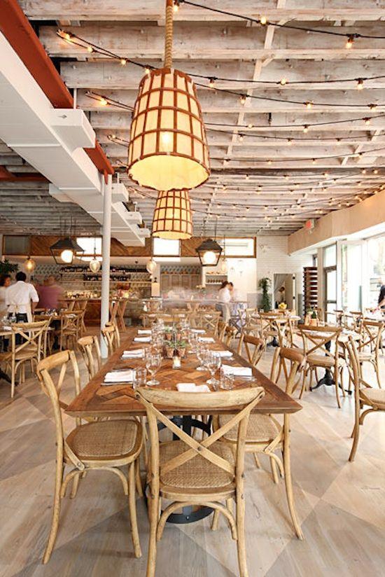 rosemary's new york Restaurant interior design