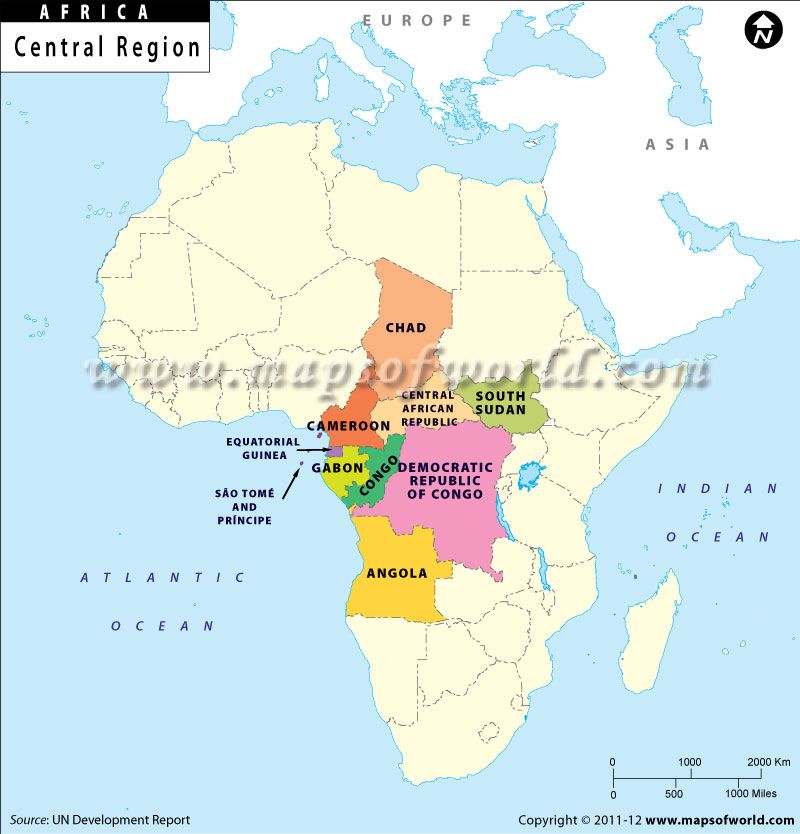 Central Region Africa Map | I maps | Pinterest | Africa map