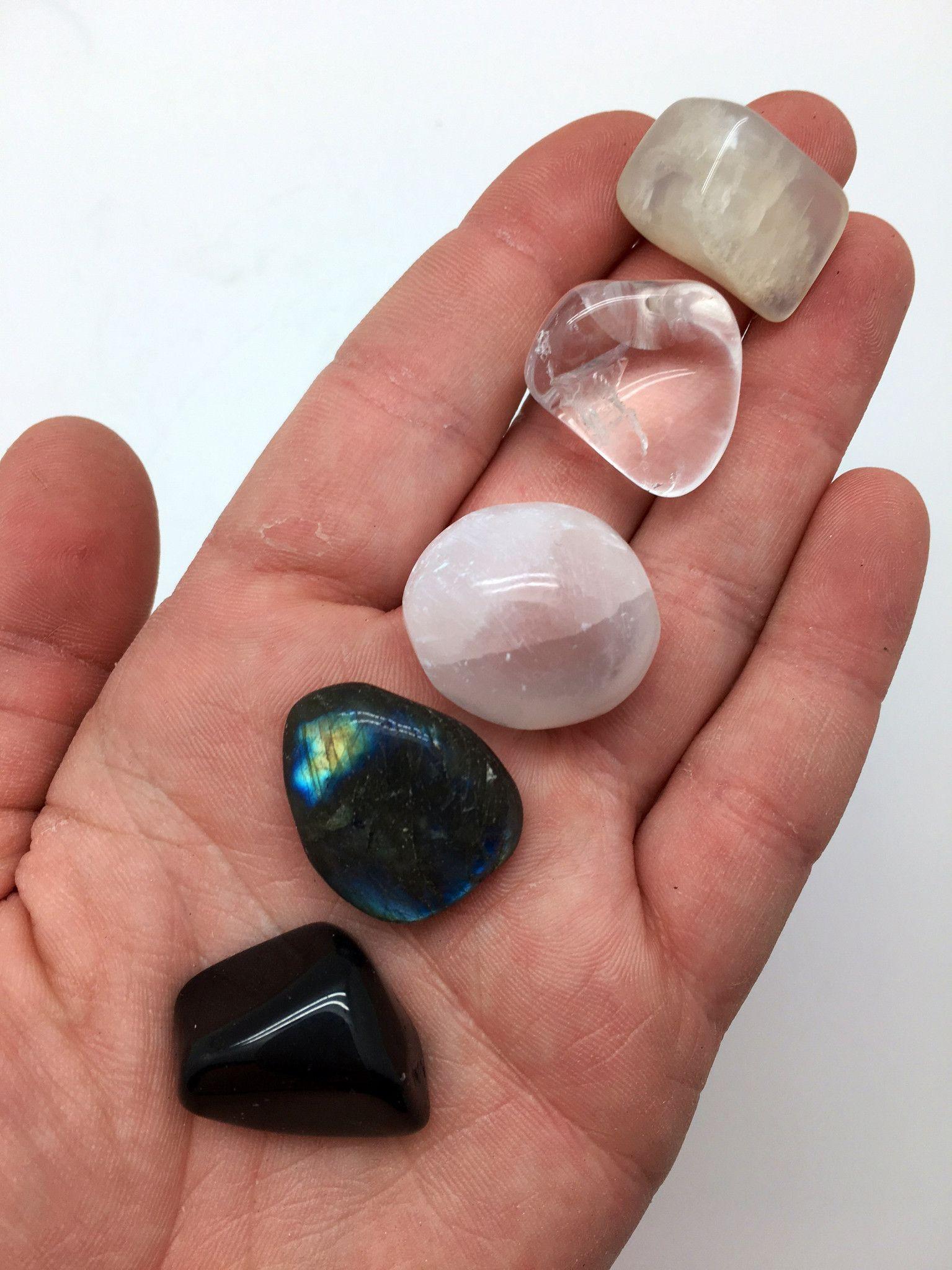 Moon Gemstone Set - Full Moon Crystal Set - New Moon Stone ...