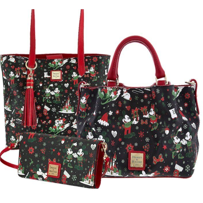 Disney Parks 2020 Christmas Holiday Mickey Tote Bag Dooney /& Bourke