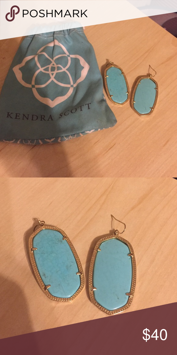 Kendra Scott turquoise Danielle earrings Danielle size earrings Kendra Scott Jewelry Earrings