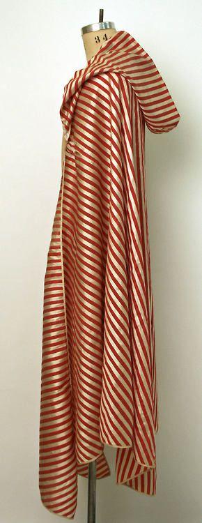 Algeria North Africa… 19th century… Silk Burnus… (hooded cloak)    Probably ladies´    the Metropolitan Museum of Art