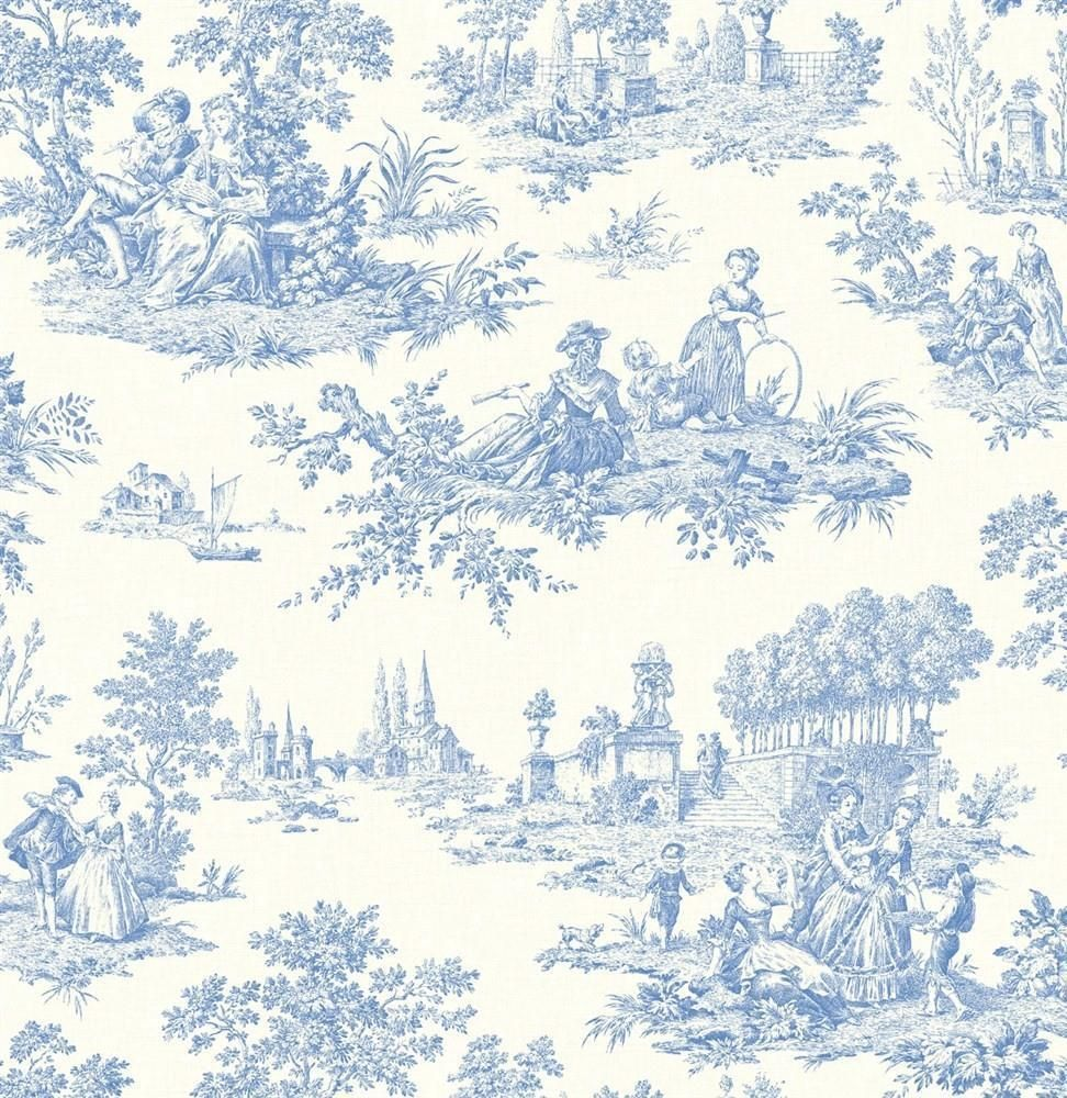 Wallpaper Designer French Country Life Blue and White
