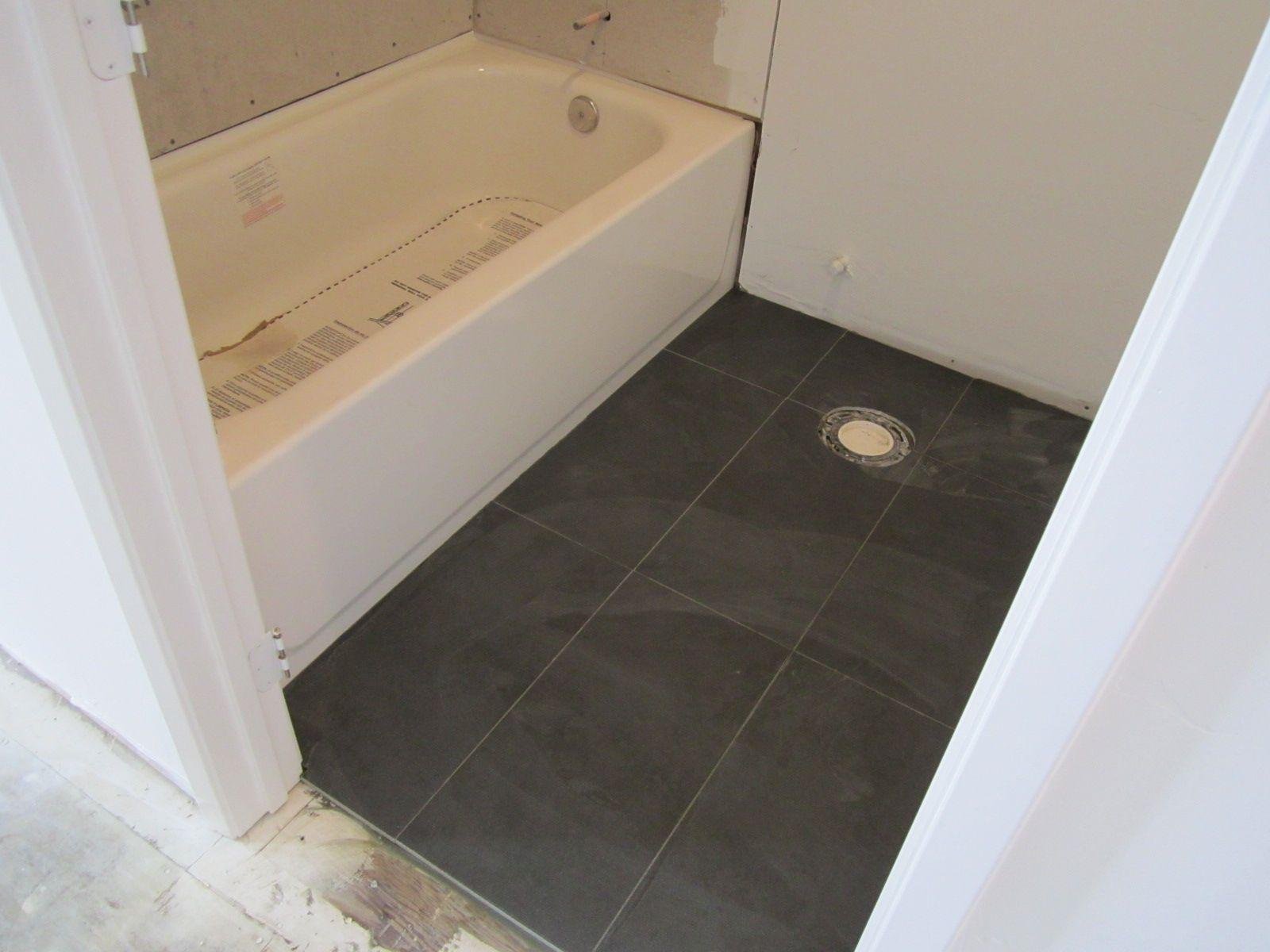 12x24 Tile In A Small Bathroom Small Bathroom Tiles Modern