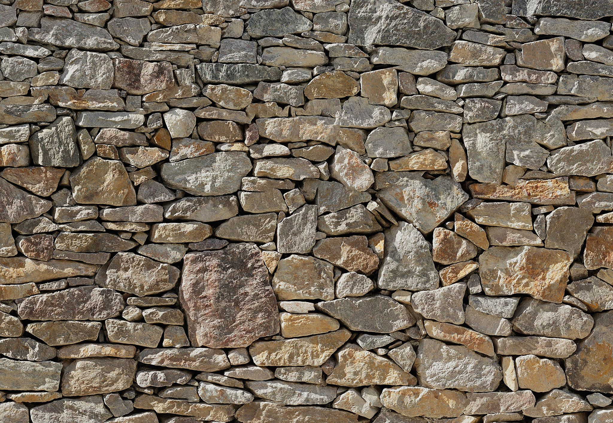 Realistic Stone Wall Mural Wallpaper