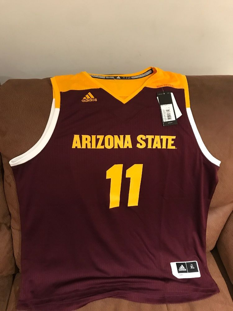 aa3e4d958db Adidas Arizona State University Ncaa Basketball Jersey NWT Size XL Men