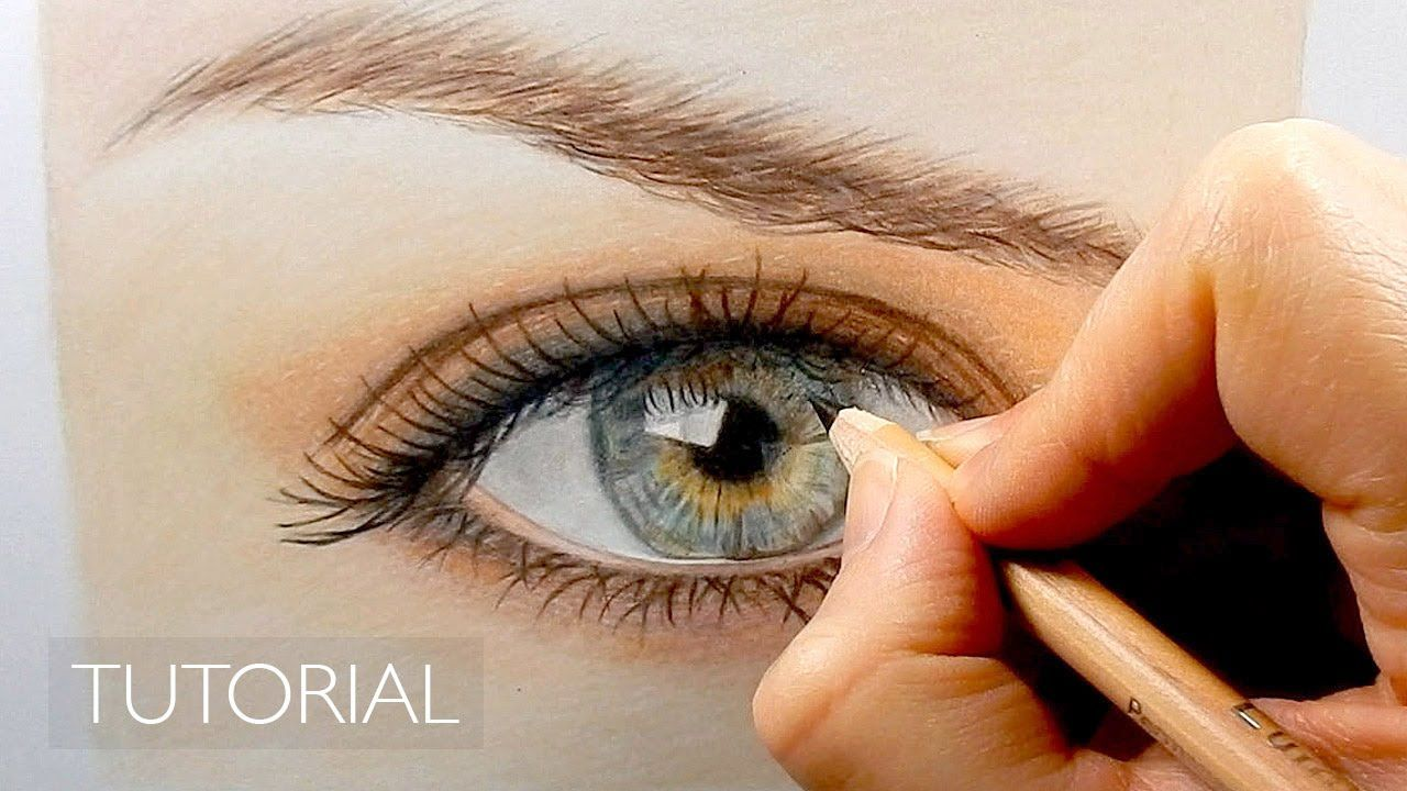 How to draw with colored pencils - Tutorial How To Draw A Realistic Eye With Colored Pencils Emmy Kalia