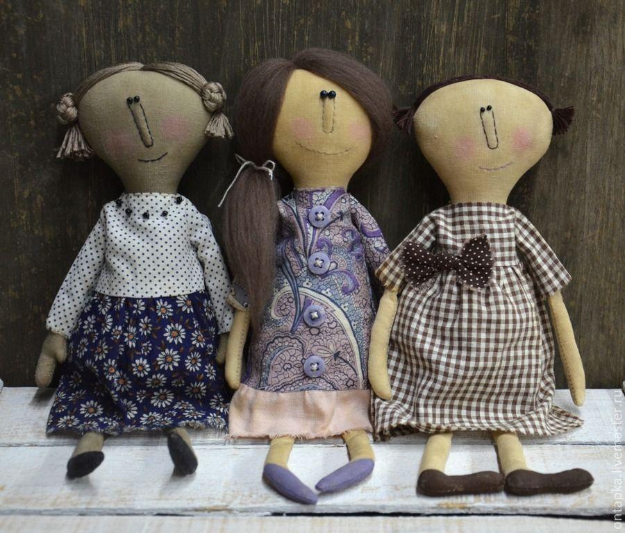 """Купить Интерьерные примитивные куклы """"Малышки"""" - примитивная кукла, примитив, оригинальный подарок, интерьерная кукла"""