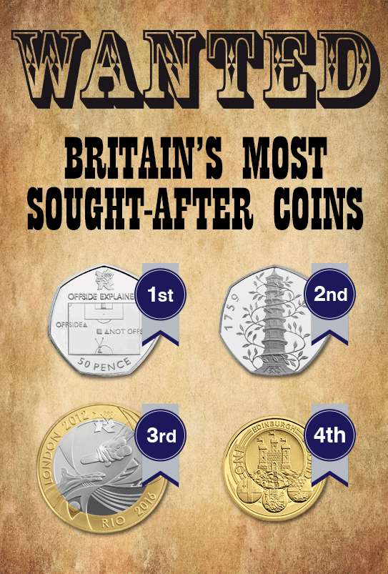 Most Wanted Britain S Most Sought After Coins Of 2016