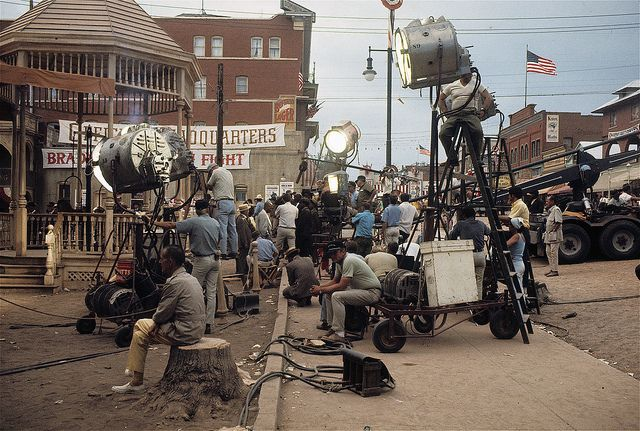 "Film homage, 1910's, cast & crew, main street, ""The Great White Hope"" set, Globe, AZ, 1969 by David Lee Guss, via Flickr"
