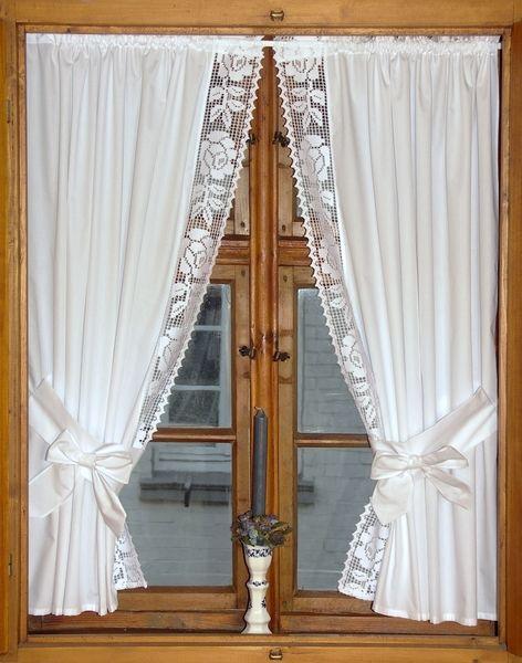 landhausgardinen raffgardinen rosen mit schleifen von linas w schetruhe auf. Black Bedroom Furniture Sets. Home Design Ideas