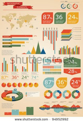 Retro Infographics Set World Map And Information Graphics Stock - fresh world map with all countries vector