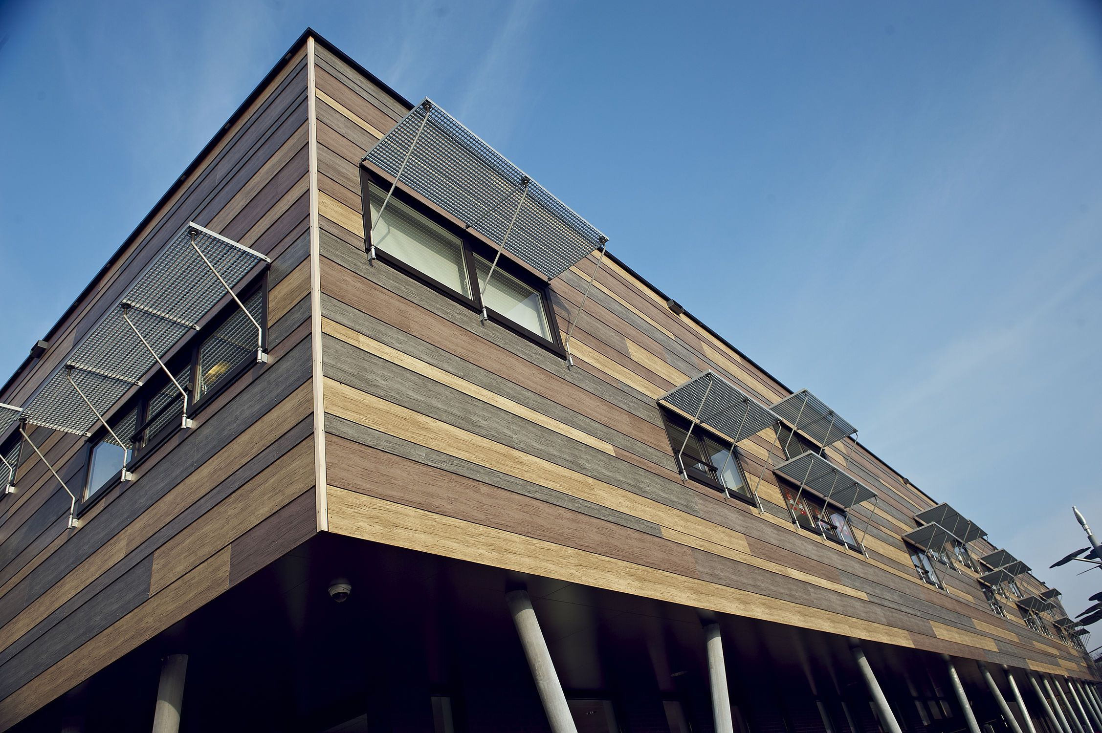 Composite cladding / lacquered / smooth / panel ROCKPANEL WOODS Rockwool B.V. / Rockpanel Group
