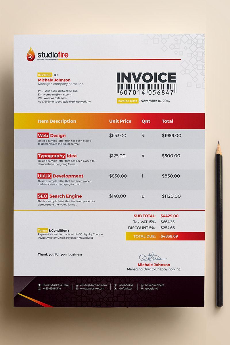 StudioFire Clean Invoice - Corporate Identity Template