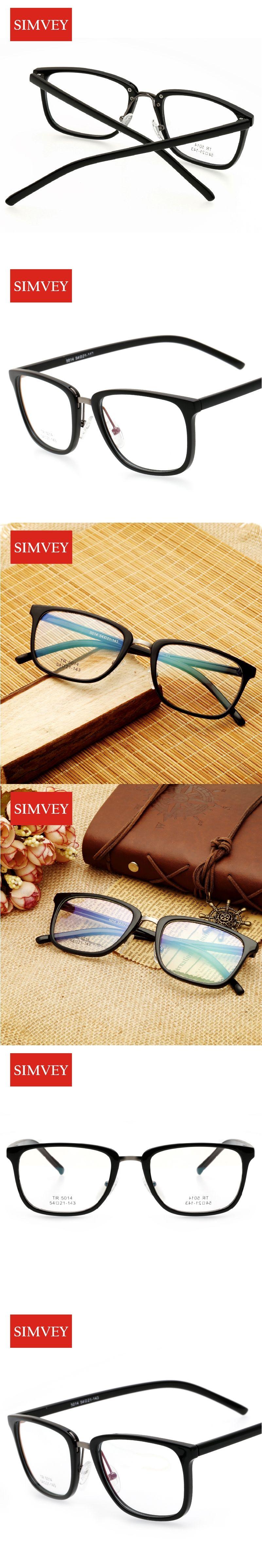 9c9ebbcc84e9 Simvey Fashion Classic Nerd Glasses Women Vintage Blue Light Glasses Retro  Brand Designer Eyeglasses Frames Men
