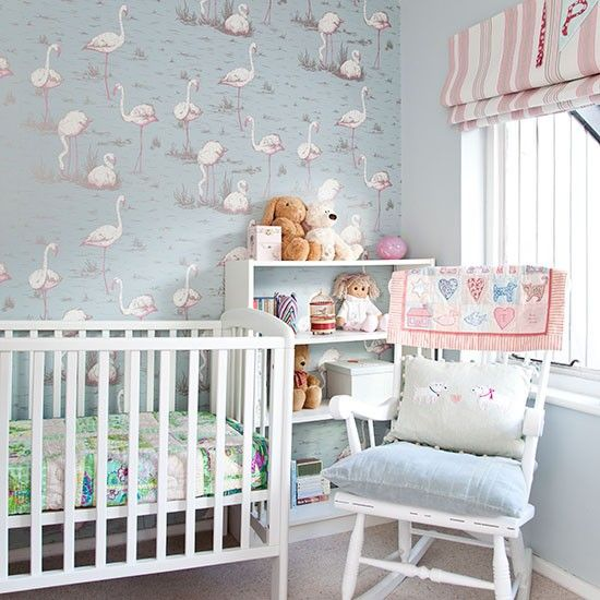 Blue And Pink Nursery Baby Kids Bedroom Pastel