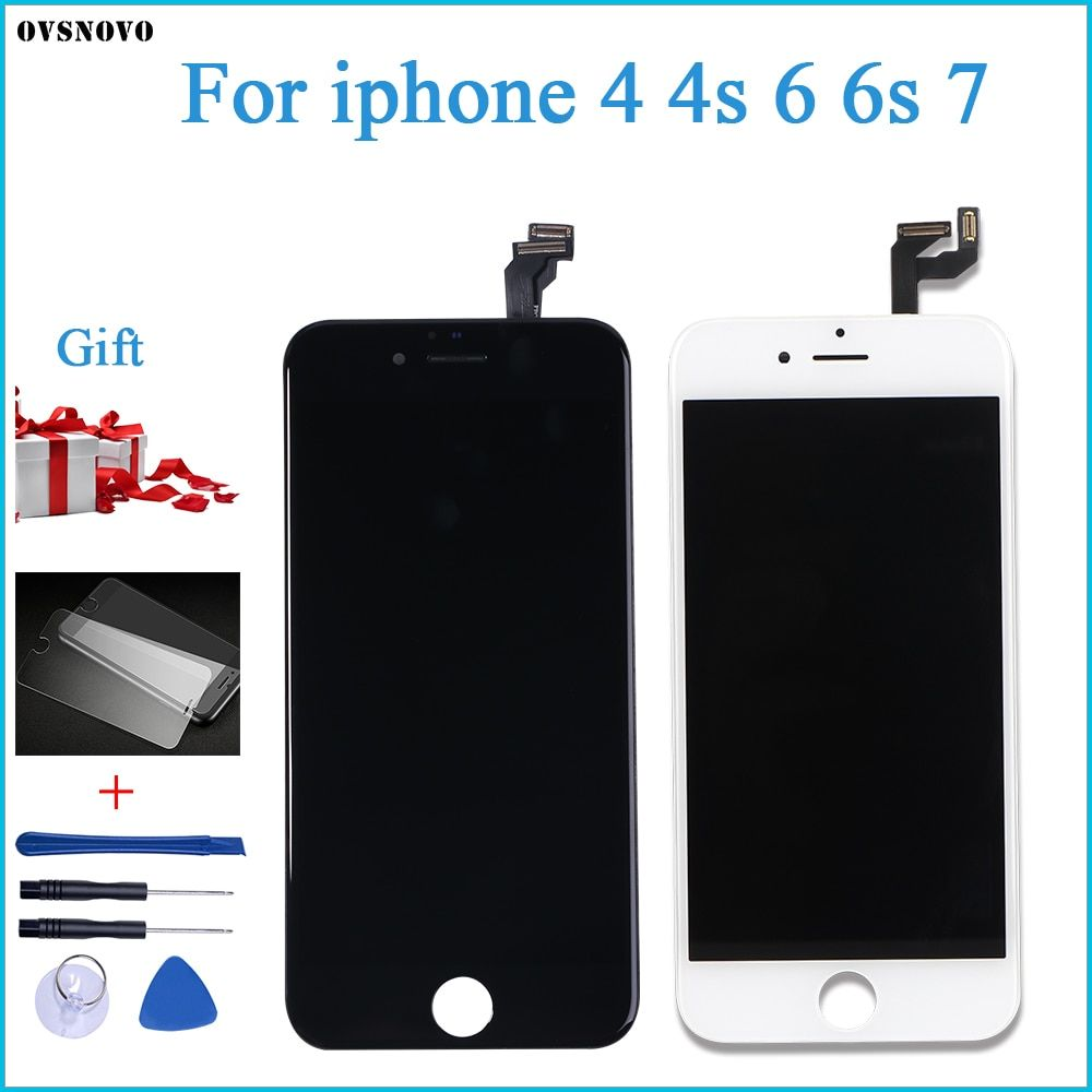 Ovsnovo Aaa Quality For Iphone 4 4s 6 6s 7 Lcd Display Touch Screen Assembly 100 Brand New Tempered Glass Tools Aliekspress Iphone Silicone Phone Covers