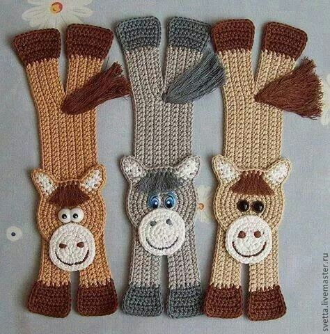 4b6f939202249ecf4a2b9c9369ba1c4a Bookmark Ideas Crochet Horsejpg
