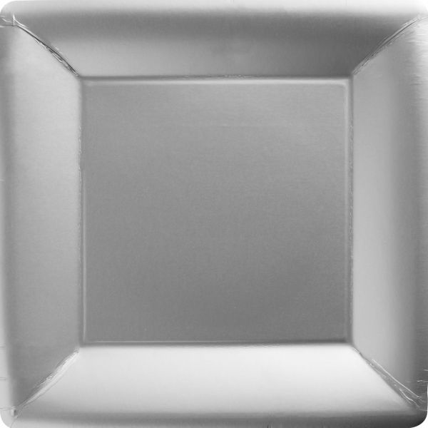 Silver Paper Square Dinner Plates 20ct | Laura Shower | Pinterest | Dinners and Squares & Silver Paper Square Dinner Plates 20ct | Laura Shower | Pinterest ...
